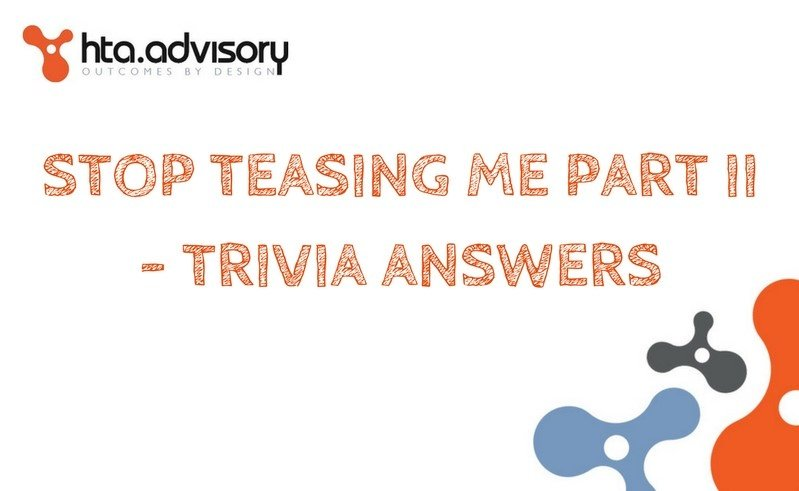 Stop Teasing Me Part II - Trivia Answers