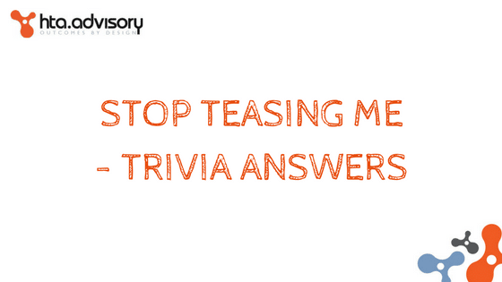 Stop teasing me - trivia answers
