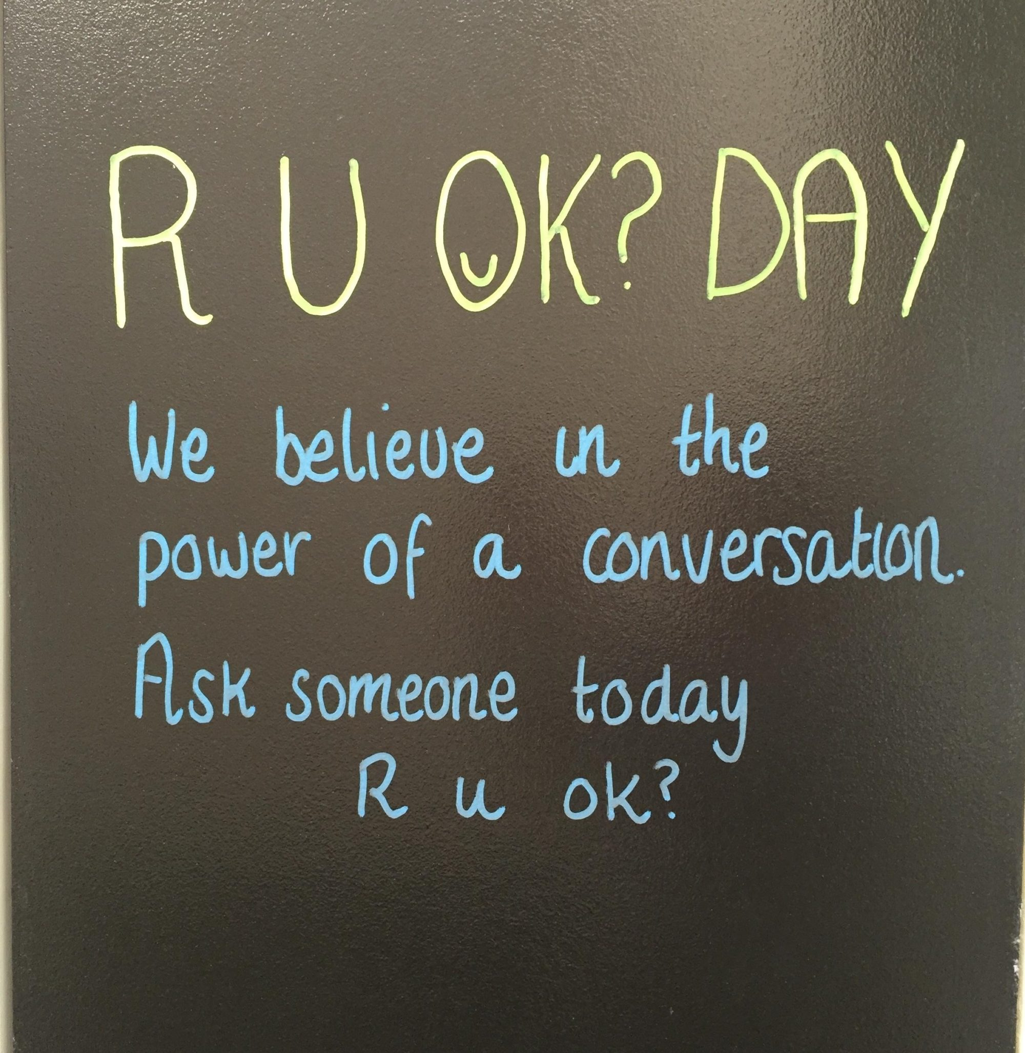 R u ok? Day - 10th September 2015